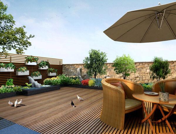 天台屋顶花园绿化效果