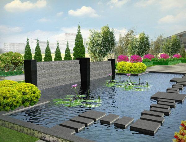 深圳天台花园绿化工程