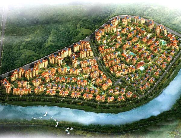 海南五指山泺海·蝶泉湾景观绿化工程