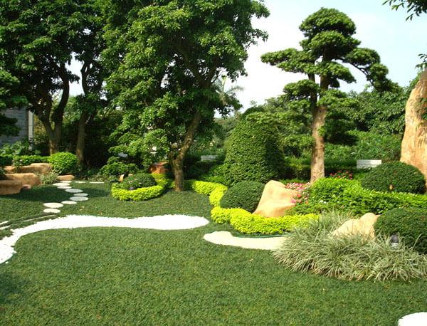 广州番禺私家别墅景观绿化工程